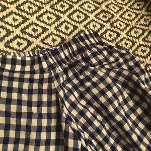 Forever 21 Tops - Blue & white checkered / plaid off shoulder top